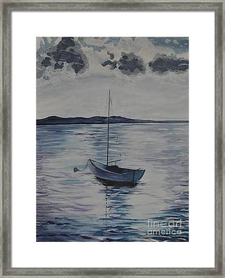 The Bay Framed Print by Sally Rice