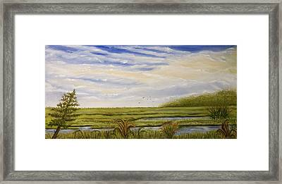 The Bay Side Of The Shore Framed Print