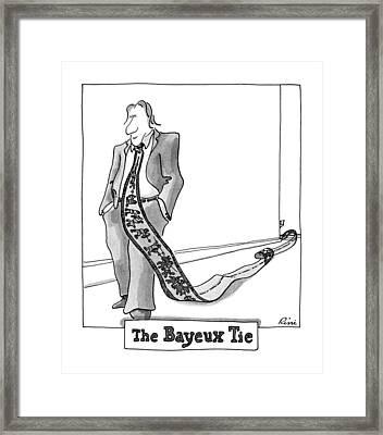 The Bayeux Tie Framed Print