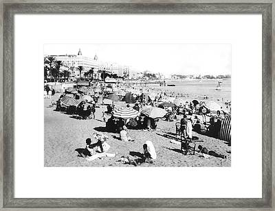 The Beach At Cannes Framed Print