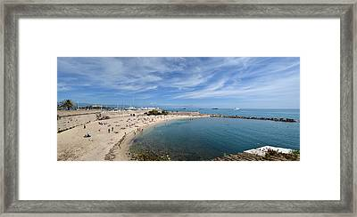 Framed Print featuring the photograph The Beach At Cap D' Antibes by Allen Sheffield