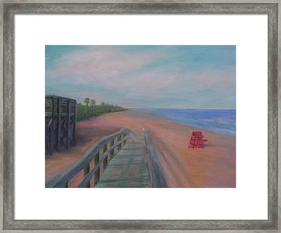 The Beach At Flagler Beach Framed Print
