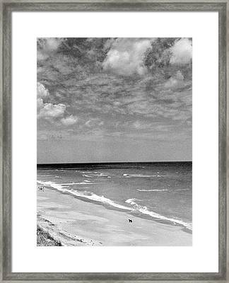 The Beach At Hobe Island Framed Print by Serge Balkin