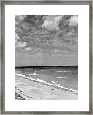 The Beach At Hobe Island Framed Print