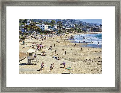The Beach At Laguna Framed Print by Kelley King