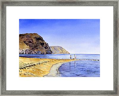The Beach At Las Negras Framed Print by Margaret Merry