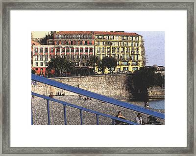 The Beach At Nice Framed Print