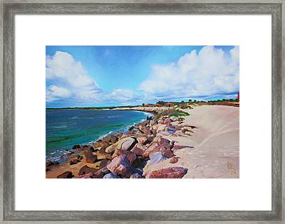 The Beach At Ponce Inlet Framed Print