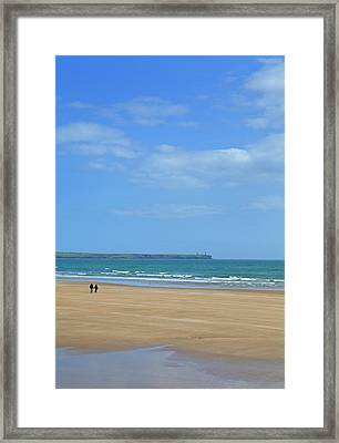 The Beach At Tramore, County Waterford Framed Print by Panoramic Images