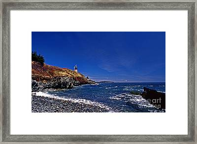 The Beach At West Quoddy Framed Print by Skip Willits