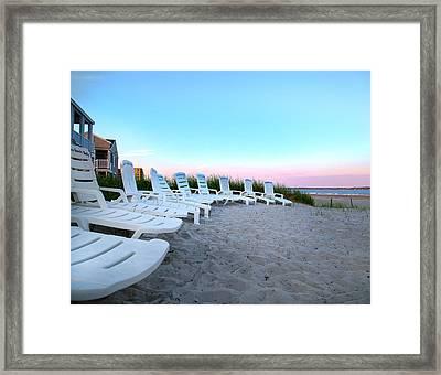 The Beach Chairs Framed Print