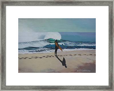 The Beach Framed Print by Chikako Hashimoto Lichnowsky
