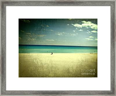 The Beach - From My Iphone Framed Print by Mary Machare