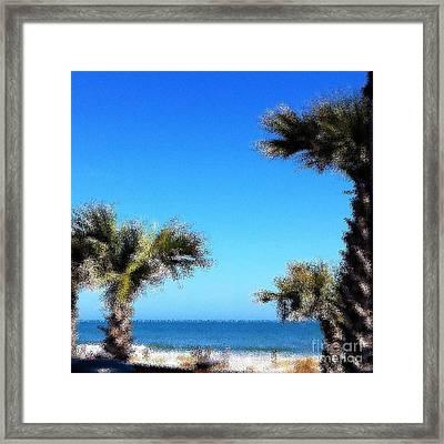 The Beach  Framed Print by Gayle Price Thomas