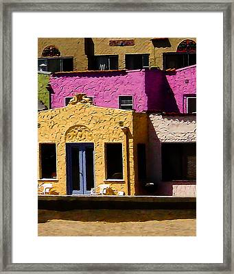 Framed Print featuring the photograph The Beach House by Jim Thompson