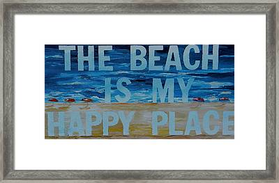 The Beach In My Happy Place Two Framed Print by Patti Schermerhorn