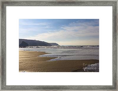 The Beach Porthtowan Framed Print