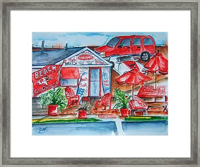 The Beach Shack Framed Print