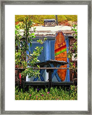 The Beach Shack Framed Print by Ron Regalado