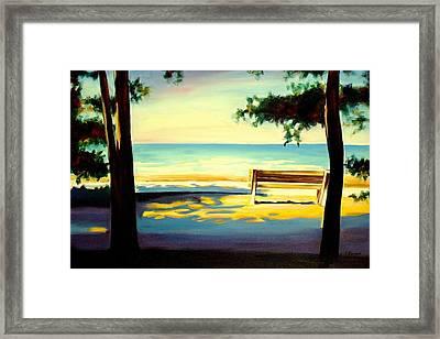 The Beach Framed Print by Sheila Diemert