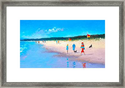 The Beach Walkers Framed Print