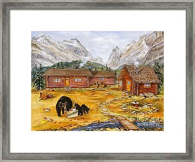 The Bear's Picnic Framed Print by Virginia Ann Hemingson