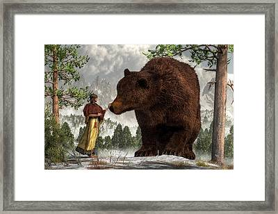 The Bear Woman Framed Print