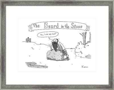 The Beard In The Stone -- A Man With His Beard Framed Print by Zachary Kanin