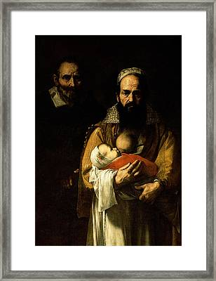 The Bearded Woman Breastfeeding, 1631 Framed Print by Jusepe de Ribera