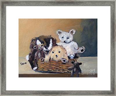 The Bears Are Back In Town Framed Print by Sharon Burger
