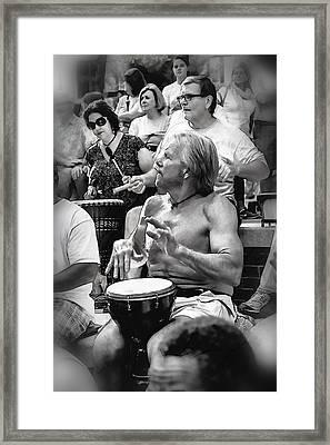 The Beat Goes On Framed Print by John Haldane