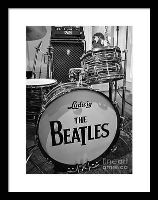 Rock And Roll Drums Framed Prints