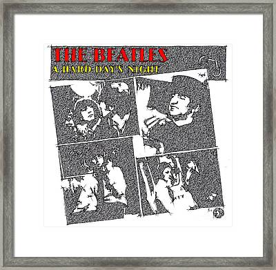 The Beatles - A Hard Day's Night Framed Print by Pablo Franchi