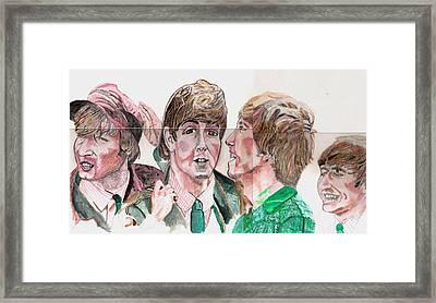 The Beatles 3 Framed Print by David Garren