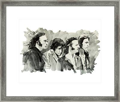 The Beatles 3 Framed Print by Bekim Art