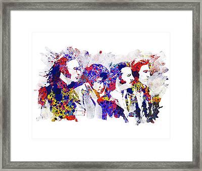 The Beatles 4 Framed Print by Bekim Art