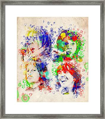 The Beatles 5 Framed Print by Bekim Art