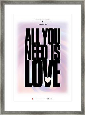 The Beatles - All You Need Is Love Framed Print