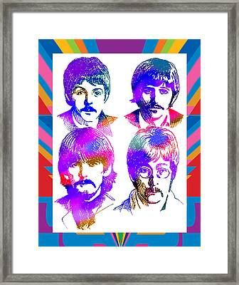 The Beatles Art Framed Print by Robert Korhonen