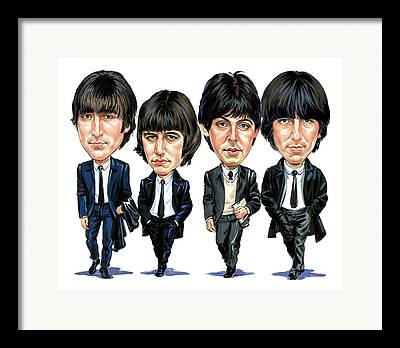 Fab Four Paintings Framed Prints