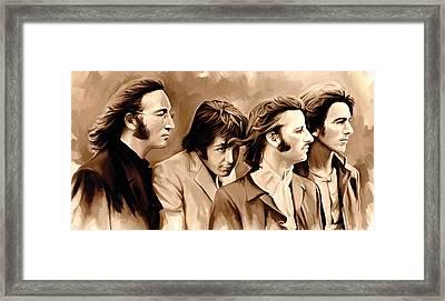 The Beatles Artwork 4 Framed Print by Sheraz A