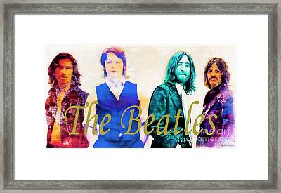 The Beatles Framed Print by Barbara Chichester