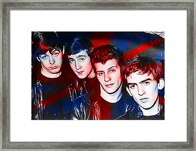 The Beatles Before Ringo Pete Best Painting Framed Print by Marvin Blaine