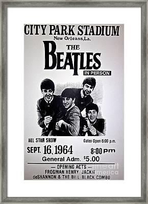 The Beatles Circa 1964 Framed Print