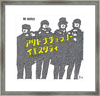 The Beatles Cover Japan Framed Print by Pablo Franchi