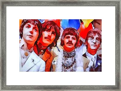 The Beatles Framed Print by Dan Sproul