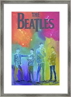 The Beatles Framed Print by Gino Savarino