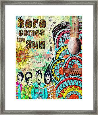 The Beatles Here Comes The Sun Framed Print by Tara Richelle