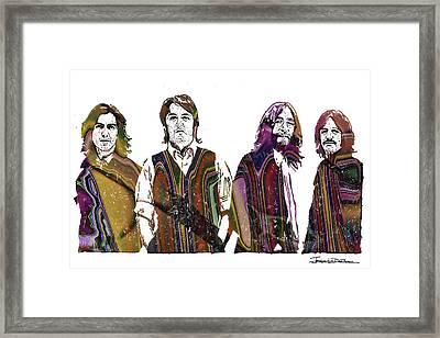 The Beatles - Icons Final Cover Framed Print by Jerrett Dornbusch