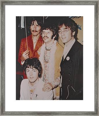 The Beatles In Color Framed Print by Donna Wilson